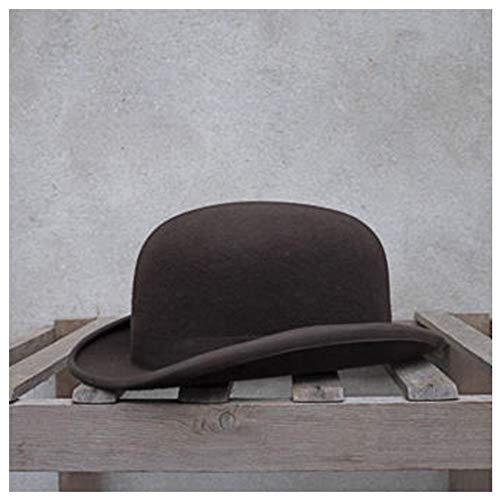 Retro, elegante, moda, clásico bombín 100% Lana del hongo for hombres de las mujeres de la bóveda del sombrero de Fedora de Cosplay Topper del sombrero de copa del sombrero el Billycock hecho a mano e