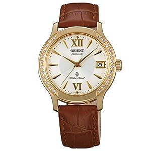 Reloj de señora Orient con Pulsera de Cuero Genuino Dorado