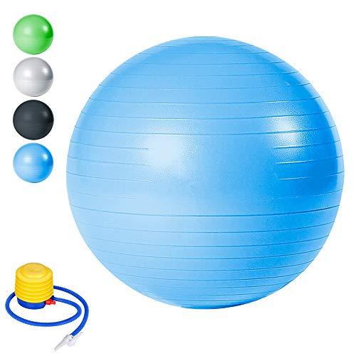 Wolketon Gymnastikball Pilates-Ball Maximalbelastbarkeit bis 300kg für Core Strength Beckenübungen Sitzball Balance Ball im Gym-Home-Büro