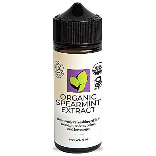 Spearmint Extract - 4oz - Modern Cupboard, Organic Mint Extract for Baking, Liquid Mint Flavoring, Non-GMO, Made in the USA