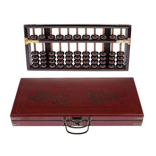 SM SunniMix Ábaco de Madera de Estilo Vintage - Calculadora de Columna de Madera China Profesional 11