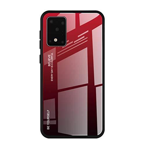 HAOYE Hülle für Samsung Galaxy S10 Lite/A91 Hülle, Farbverlauf-Glas Back Cover Handyhülle, Ultra Thin Tasche Cover TPU Silikon Grenze Shock Absorption Stoßfest Hülle Schutzhülle(5)