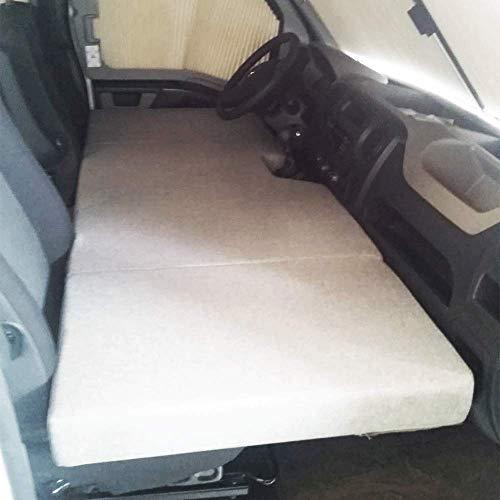 KFoam.es Colchón Plegable Cama Delantera Camper para Opel Movano, Renault Master, Nissan NV400 Color Gris (+2011)