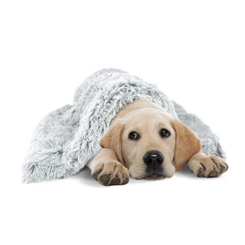 The Dog's Blanket Couverture pour chien en forme de donut Blanc glacé 72 x 107 cm