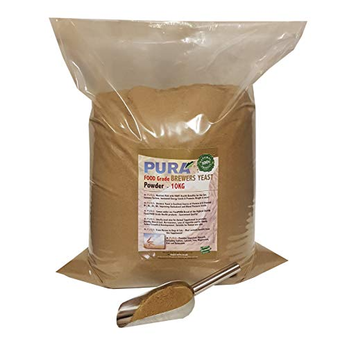 FoodPURA Brewers Yeast Powder 10KG - use with Horses, Ponies Vitamin B, E & H for Pets and Animals - For Healthy Skin and Coats - also Human FOOD Grade!