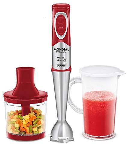 Mixer Power Red 127V, 2 em 1, Vermelho, Mondial - M-10
