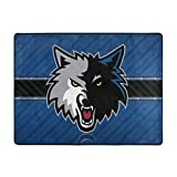 Dopy Minnesota Basketball Fans Large Area Rugs for Living Room Bedroom Kids Area Rugs Baby Rugs for Play Area Rugs 4'x5'3'' Ft Under 50