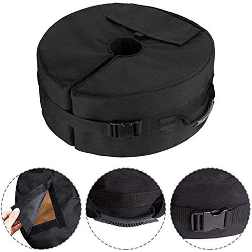 LITI Round Sandbags with Umbrella Base, Weighted Tent Stand for Outdoor Sun Shelter,46 * 15cm