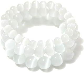 Fashion Set of 3 Pink Stone Charm Bracelet Crystal Bracelets Multiple Colors Round Gemstone Lucky Bracelet for Women Men G...