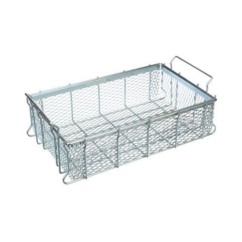Marlin Steel Expanded Metal Tote Basket, Plain Steel, Zinc Plated (21