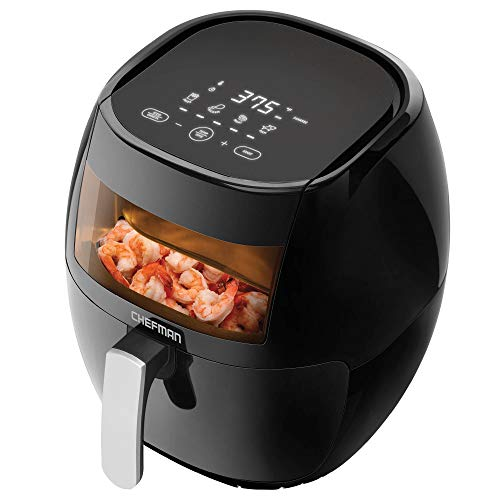 Chefman TurboFry Touch 8 Quart Air Fryer 60 Minute Timer and Auto Shut Off, BPA Free, Family Size, Digital w/Window-8 Qt