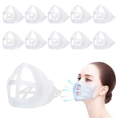 Soporte para máscara 3D[10 PCS]KarDition Mask Bracket[Reutilizable y lavable][Aumente más espacio para respirar][Adaptado para nariz y boca]Soportes de respiración Marco