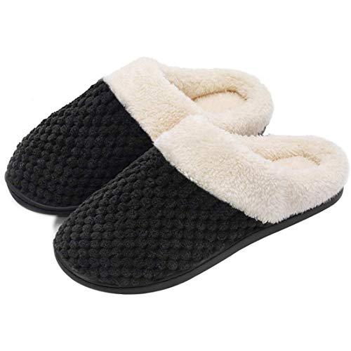 Women's Comfort Coral Fleece Memory Foam Slippers Fuzzy...