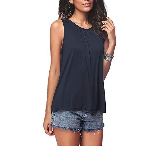 SALEBLOUSE T-Shirt Damen Kurzarm Oberteile Lässig Tunika Bluse Sommer T Shirt Tops Sexy Ärmellos Shirt Crop Tops Damen Mode Rundhals Bluse Mode Camisole Tank
