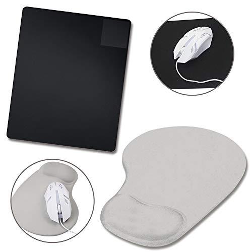 WENTS 2 Stück Mauspad Ergonomische Handgelenkauflage Handballenauflage Mouse Tastatur Handgelenkstütze Set für Computer, Laptop und Notebook