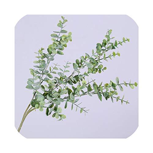NA Kunststof Eucalyptus Boomtak voor Kerstmis Bruiloft Decoratie Bloem Arrangement Kleine Bladeren Plant Faux Gebladerte, Rood Lange tak size Greenlongtak