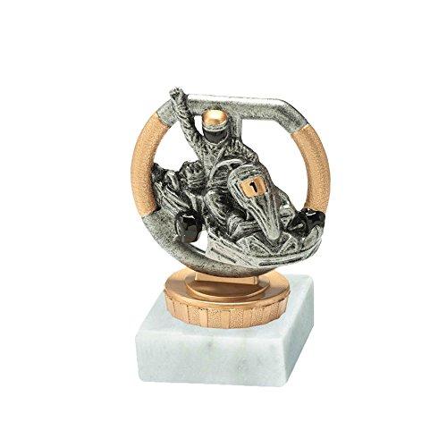 RaRu GoKart-Pokal mit Wunschgravur und Resin-Klebefigur