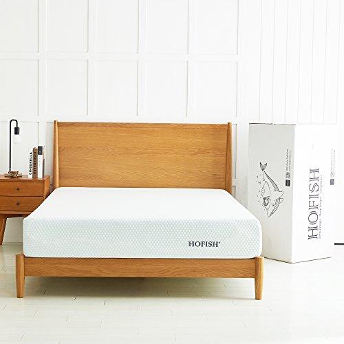 HOFISH 10 Inch Medium Firm Gel-Infused Memory Foam Mattress - Ideal Support & Great Motion...