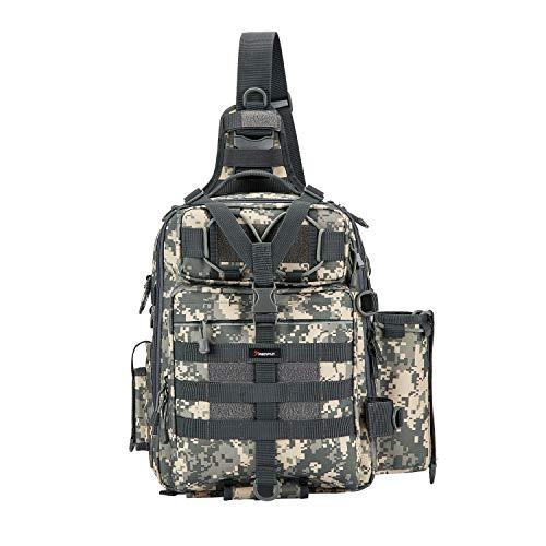 Piscifun Water-resistant Outdoor Tackle Bag Single Shoulder Fishing Tackle Storage Bags Durable Handbag Crossbody Bag Multifunctional Bags For Camping Hiking...