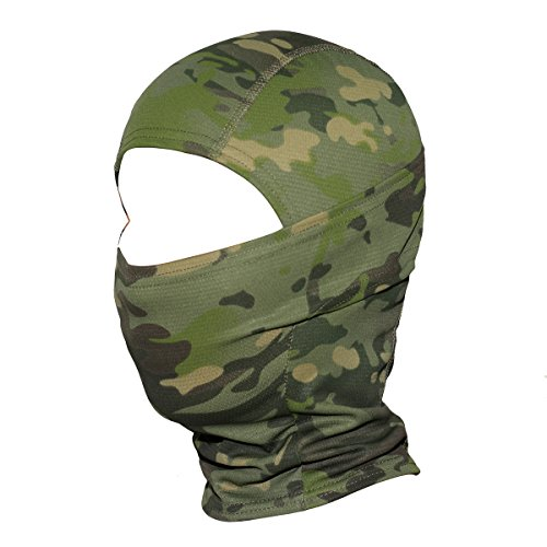 WTACTFUL Camouflage Balaclava Hood Ninja Outdoor Cycling Motorcycle Motorbike Hunting Military Tactical Airsoft Paintball Helmet Liner Gear Wind Dust Sun UV Protection Breathable Full Face Mask SP-03