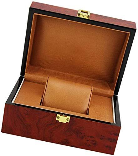 BANNAB Caja de Madera de Color Rojo Vino Colección de Relojes Escaparate de Reloj de Pulsera de una Sola Ranura