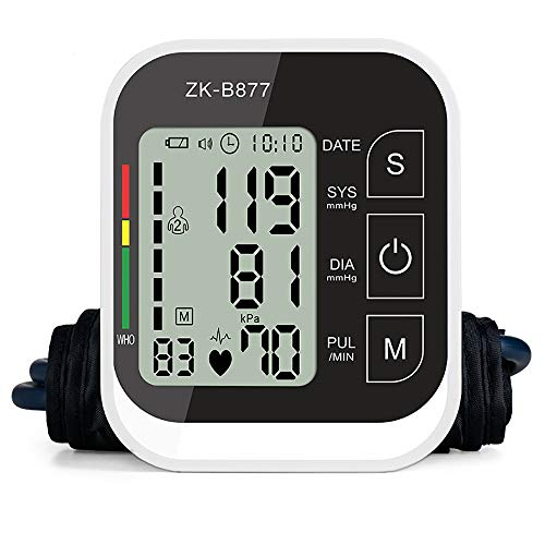 ZUZU Automatischer Blutdruck Cuff Monitor-Clinical High Blood Pressure Monitore by-Portable Large Screen BP Wrist Cuff Blutdruck-Kit-Irregular Heartbeat BP Monitor