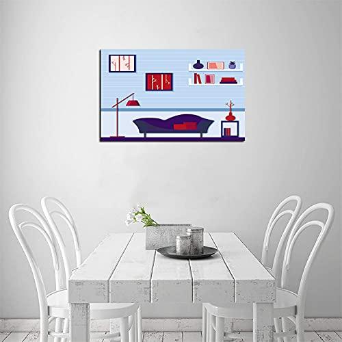 Cojines decorativos para sofá, lienzo para pared, decoración de pared, bonito salón...