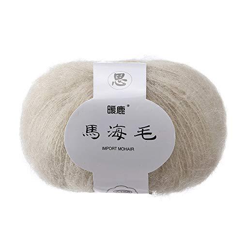 jieGorge Soft Mohair Knitting Wool Yarn DIY Shawl Scarf Crochet Thread Supplie C, Home Textiles, for Christmas Day (C)