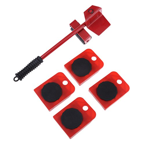 5 Satz Möbel Mover Slider Glider Roller Lifter Für Sofa Tabellen Kabinett - Rot