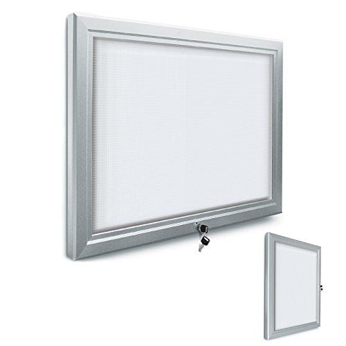 Schaukasten für den Innenbereich, abschließbar | 4 Größen zur Wahl | Sicherheitsglas | Infokasten/Aushang für Schule, Restaurant etc. (DIN A 2)