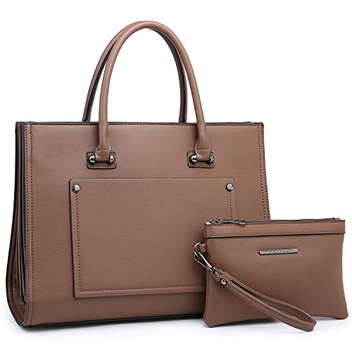 Dasein Women Purses and Handbags Top Handle Satchel Shoulder Bags Work Tote Bag for Ladies (Coffee)