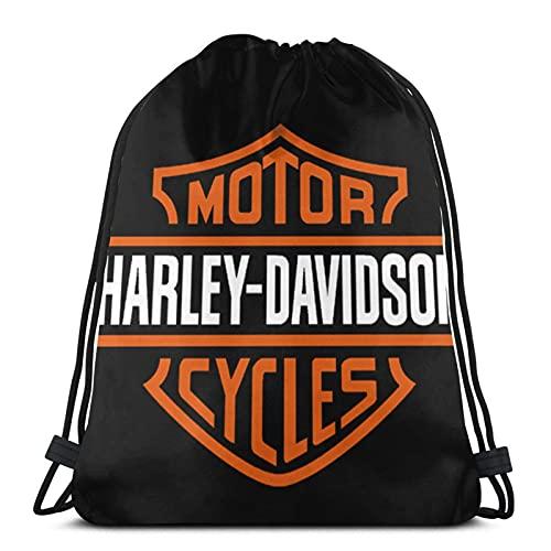 JIAMEIMEI Harley Davidson 6 Bolsas de Cuerdas Mochila con cordón Mochila Ligera para Gimnasio Mochila para Deportes de Playa Gimnasio Viaje Yoga Drawstring Bag