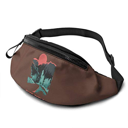XCNGG Bolso de Cintura Corriente Bolso de Cintura de Ocio Bolso de Cintura Bolso de Cintura de Moda Twin Peaks Unisex Running Waist Packs Casual Waist Bag Can Hold Small Objects Such As Mobile Phones