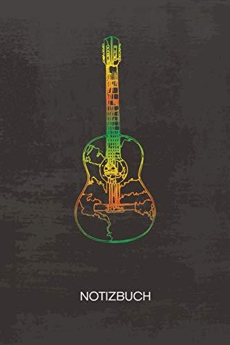 NOTIZBUCH A5 Dotted: Gitarren Spieler Notizheft GEPUNKTET 120 Seiten - Gitarre Skizze Notizblock Vintage Gitarre Skizzenbuch - Musikinstrumente Geschenk für Musiker Sänger Instrumentalist