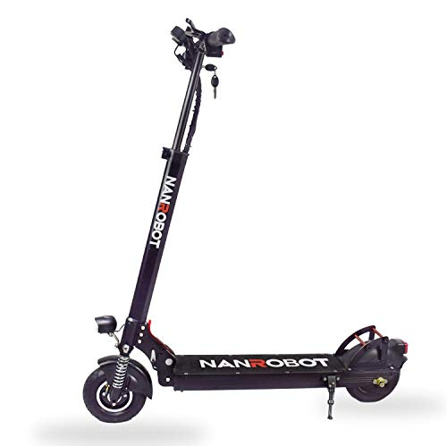NANROBOT X4 2.0 Adult Electric Scooter - 8'tire + 500W brushless Motor and Lithium Battery 48V 10.4a, Maximum Range 25 Miles