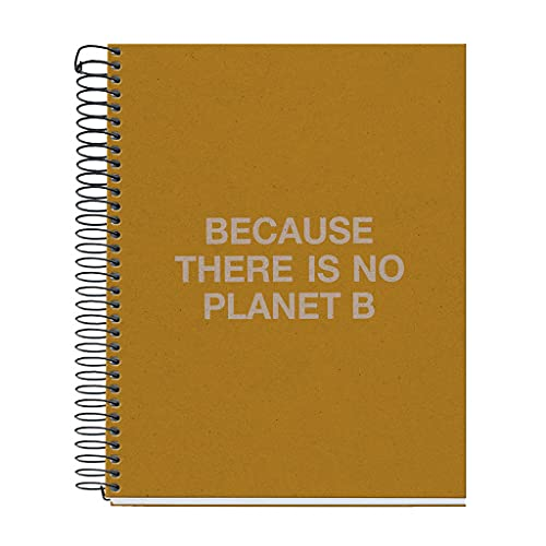 ECOALF powered by MIQUELRIUS - Cuaderno reciclado A5 cuadrícula 120 hojas - Mostaza, 6122