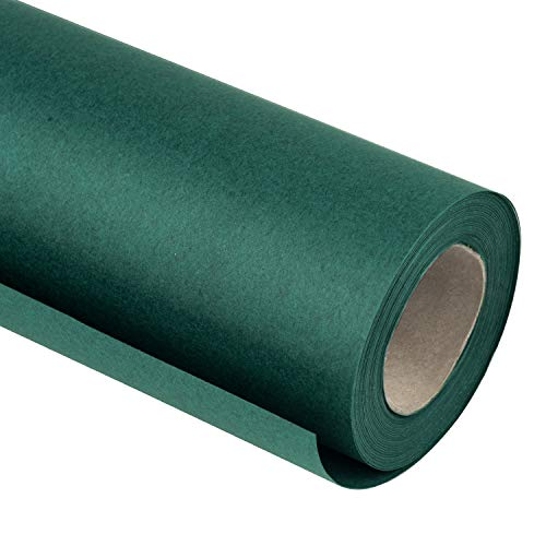 RUSPEPA Xmas Green Kraft Wrapping Paper - 81.5 Sq Ft Heavyweight Paper for Wedding,Birthday, Shower, Congrats, and Holiday - 30 inches x 32.8 feet Per Roll