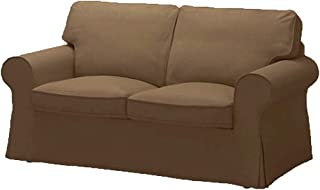 The Ektorp Loveseat Cover Replacement is Custom Made for IKEA Ektorp Loveseat Sofa Cover, Sofa Cover Only! (Cotton Coffee)