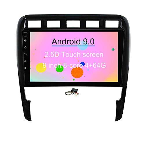 XISEDO Android 8.0 in-Dash 9 Pouces Autoradio Voiture Radio à Écran Tactile 8-Core RAM 4G ROM 32G Car Radio Système de Navigation GPS pour Porsche Cayenne (2003-2010) (avec Décodeur Fibre Optique)
