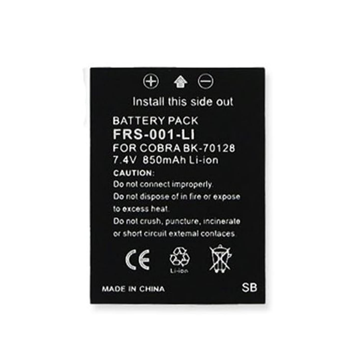 Cobra LI5600-2 DX 2-Way Radio Battery (Li-Ion 7.4V 850mAh) Rechargeable Battery - Replacement for Cobra BK-70128, MN-0160001