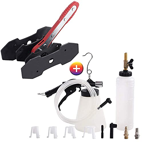 JIFETOR Pneumatic Vacuum Brake and Clutch Fluid Bleeder Tool Kit Brake Caliper Press Tool