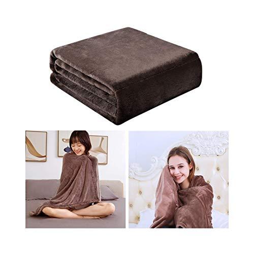 CTRGSM Manta térmica suave, manta de calentamiento eléctrico, alimentado por USB, almohadilla de invierno portátil, ranuras para calentamiento, manta térmica para el hogar
