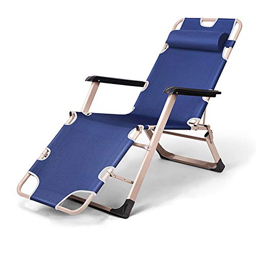 Zero Gravity Chair, Foldable, Blue, Suitable for Office, Balcony, Courtyard, Camping, Comfortable and Portable D-20-10-26 (Color : Blue)