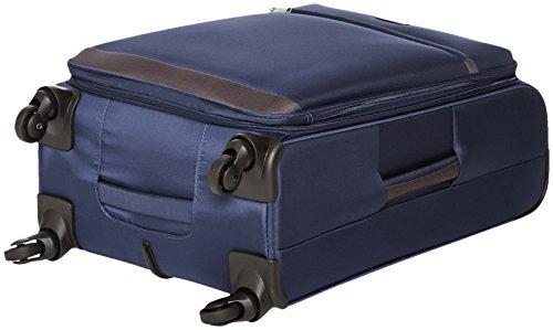 AmazonBasics Softside Spinner Luggage Suitcase - 25.9 Inch, Navy Blue
