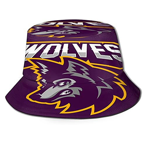 TTLUCKY Sombrero de Pesca,Plantilla de Logotipo de Mascota de Juego Wolf Esport,Senderismo para Hombres y Mujeres al Aire Libre Sombrero de Cubo Sombrero para el Sol
