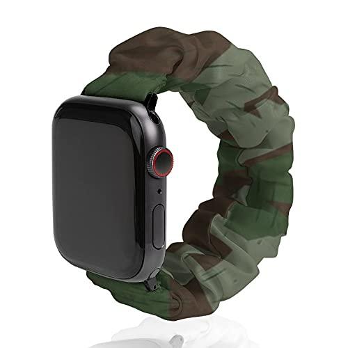 Cinturino da uomo e donna, compatibile con Apple Watch 42 mm/44 mm, morbido cinturino elastico di ricambio per iWatch Series SE 6/5/4/3/2/1, Luftwaffe Splinter B Camo Light Shade