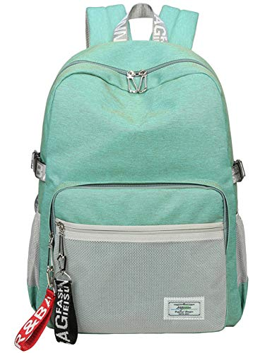 Classic Backpack Haversack Travel School Bag Student Simple Daypack Bookbag by Mygreen(Light Green)