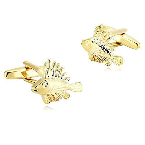 Epinki Herren Edelstahl Manschettenknöpfe Gold Special Hohl Fisch Form Hemd Manschetten Knöpfe Für Hochzeit Geschäft
