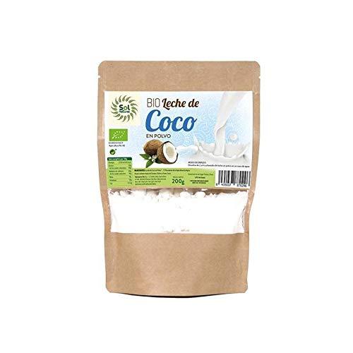 SOLNATURAL Latte di cocco in polvere biologico, 200 g, standard, unico