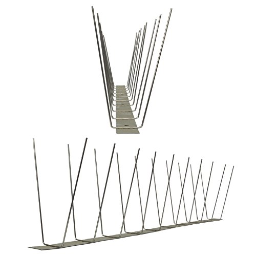 Pestsystems Vogelabwehrsystem, 1 Meter Taubenspikes 2-reihig auf V2A-Standard - hochwertige Lösung für Vogelabwehr Taubenabwehr Edelstahl Spikes
